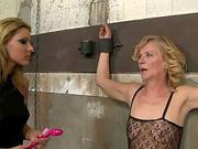 Blonde Mistress And Her Old Victim Have Fun Together