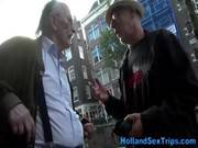 Old Tourist Looks For Sex In Amsterdam