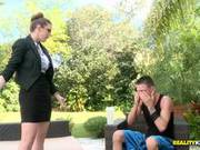 Brooklyn Chase Gives Her Gardener Some Punishment