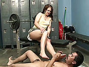 Mexican Freak Licks Toes Of Lusty Long Haired Hooker