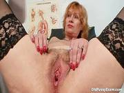 Redhead Granny Dirty Pussy Stretching In Gyn Clinic 519