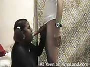 Bbw Ebony Chick Sucks A Really Long White Cock
