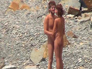 Spying On A Nude Couple At The Beach