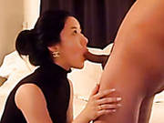 Stunning Blowjob By Sexy Black Haired Asian Wife On Private Video