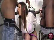 Big Tits Whore Brooklyn Chase Facialized By Black Cocks