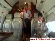 Cfnm Storyline Cabincrew Have An In Fligh