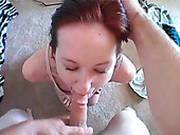 Red Haired Hottie Kyra Steele Gets Hardcore Mouth Fucked