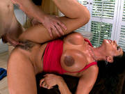 Ariella Ferrera Gets Her Hairy Snatch Fucked And Creampied
