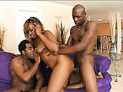 Thickalicious Ebony Hooker Is Screwed Hard In Filthy Mmf Threesome