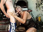 Busty And Booty Slutty Blond Housewife Gives A Bald Heade Dude A Titifuck