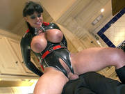 Ultra Girl Kerry Louise Fucks Him Hard With Her Tight Twat And Big Fake Tits