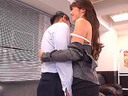 Tall Juicy Office Girl Maki Hokujo Makes A Foot-job And Sucks A Cock.