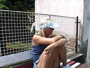 Fuckable Blond Milf Sylvie Gives Head To Horny Coach Outdoors